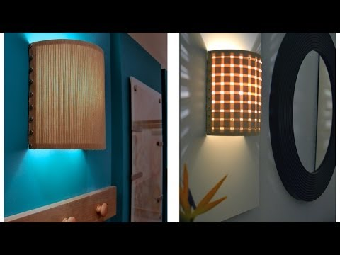 How to make a wall lamp sconce youtube how to make a wall lamp sconce aloadofball Images