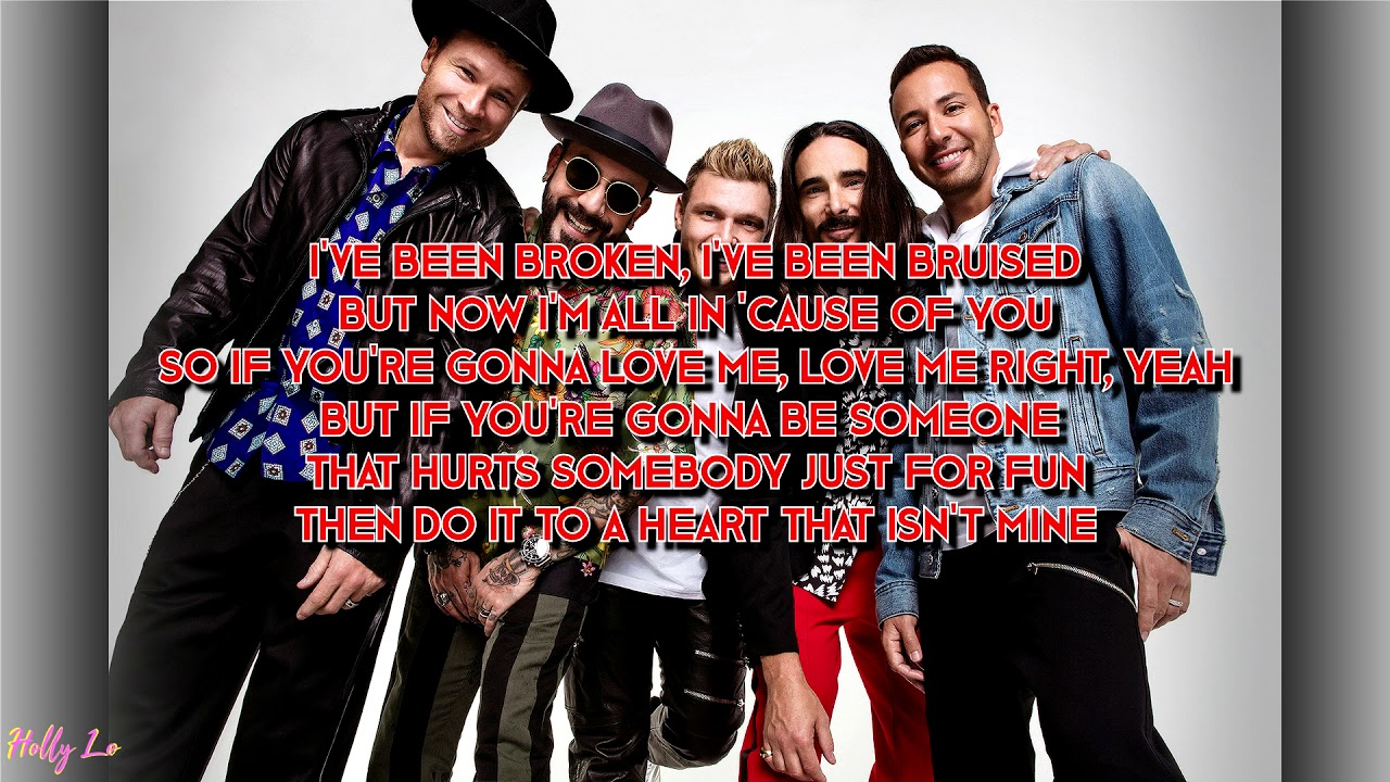 Backstreet Boys Dont Go Breaking My Heart With Lyrics Youtube