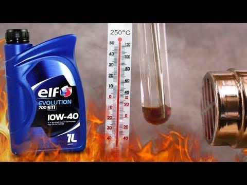 Elf Evolution 700 STI 10W40 Jak czysty jest olej silnikowy? 3x 250°C