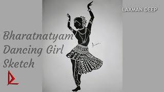 How to draw Bharatanatyam Dancer   LAXMAN DEEP