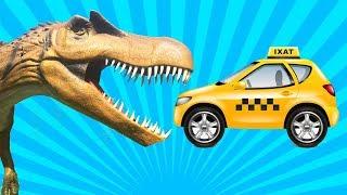 Мультик про Динозавров  - Динозавры и Машинки - Видео для детей все серии подряд