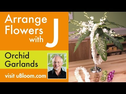 How To Arrange Flowers Orchid Garland Flower Arrangements