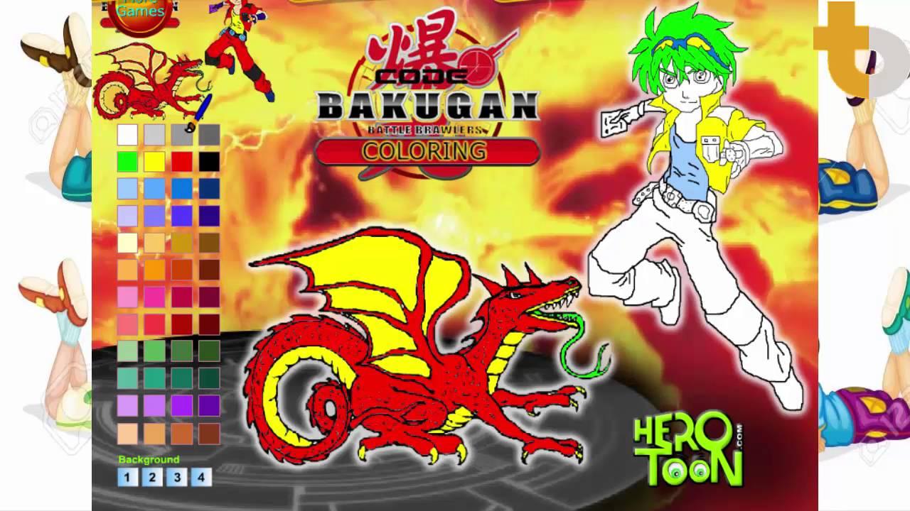 Game To Mau Bakugan Bakugan Coloring Pages Bakugan Bakutech Gachi Episode Youtube