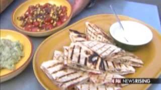 Chili Rubbed Smoked Chicken Quesadillas Smoked Tomato Guacamole