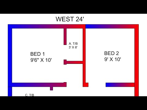 3 Room beat low budget simple house plan
