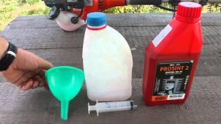 видео Топливо для бензопилы
