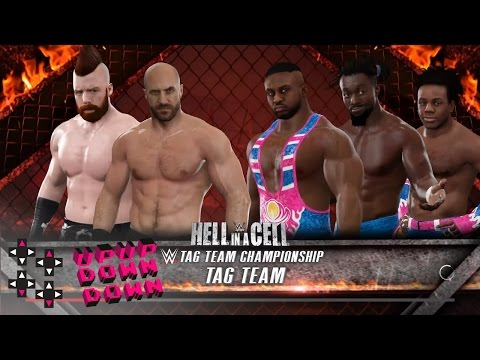 Hell In A Cell 2016: New Day vs. Cesaro & Sheamus — Raw Tag Team Title Match — WWE 2K17 Match Sims