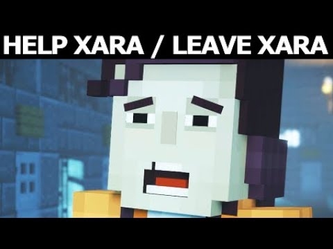 Stay Back To Help Xara Or Leave Xara Behind - Minecraft: Story Mode Season 2 Episode 3