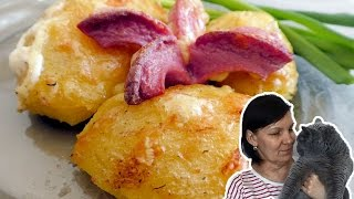 Запеченая картошечка (картошка) с сосисками. ВКУСНОЕ МЕНЮ. РЕЦЕПТЫ