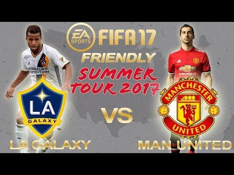 FIFA 17 | LA Galaxy vs Manchester United | Club Friendly Summer Tour 2017 | PS4 Full Gameplay