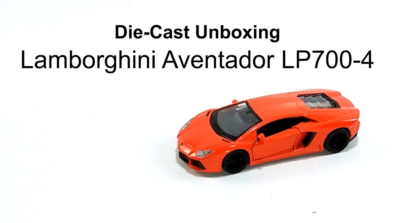 Welly 1:36 Lamborghini Aventador LP700-4 Pull Back Diecast Model Car