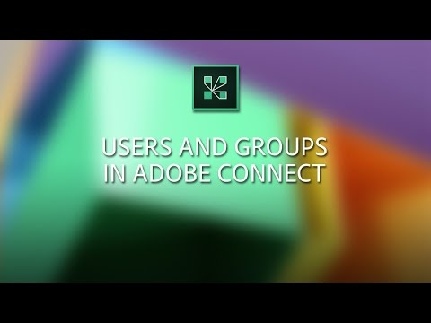 Users and Groups in Adobe Connect