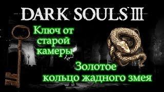 Скачать ЗОЛОТОЕ КОЛЬЦО ЖАДНОГО ЗМЕЯ Ключ от старой камеры Dark Souls 3