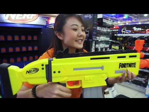 "Toys""R""Us Unboxes: NERF Fortnite AR-L Elite Dart Blaster"
