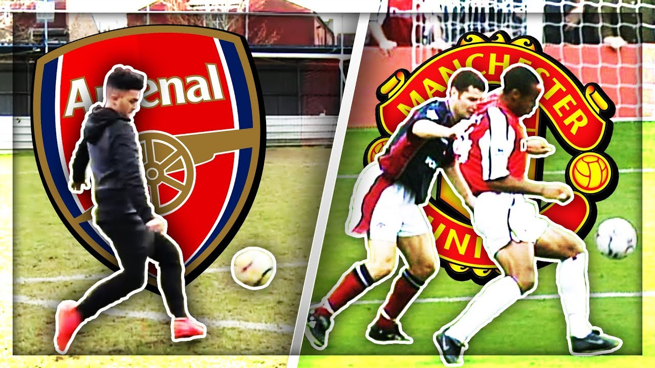 Recreating Thierry Henrys Wonder Goal Vs Manchester United  F F  Aaftv Young Gunz F F  A