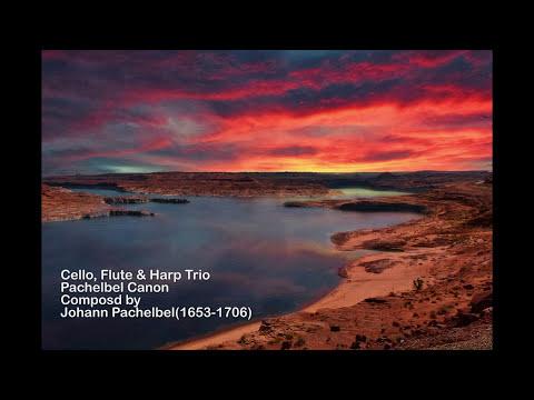 """Cello, Flute & Harp Trio """"Trumpet Voluntary/Pachelbel Canon"""