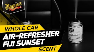 Air Freshener with a Sweet Island Breeze Scent - Meguiar's Whole Car Air Re-Fresher - Fiji Sunset