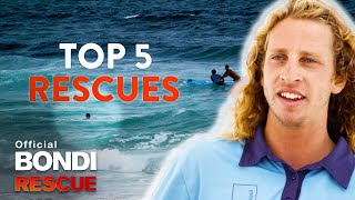 Top 5 Lifeguard Rescues - Bondi Rescue | Season 14