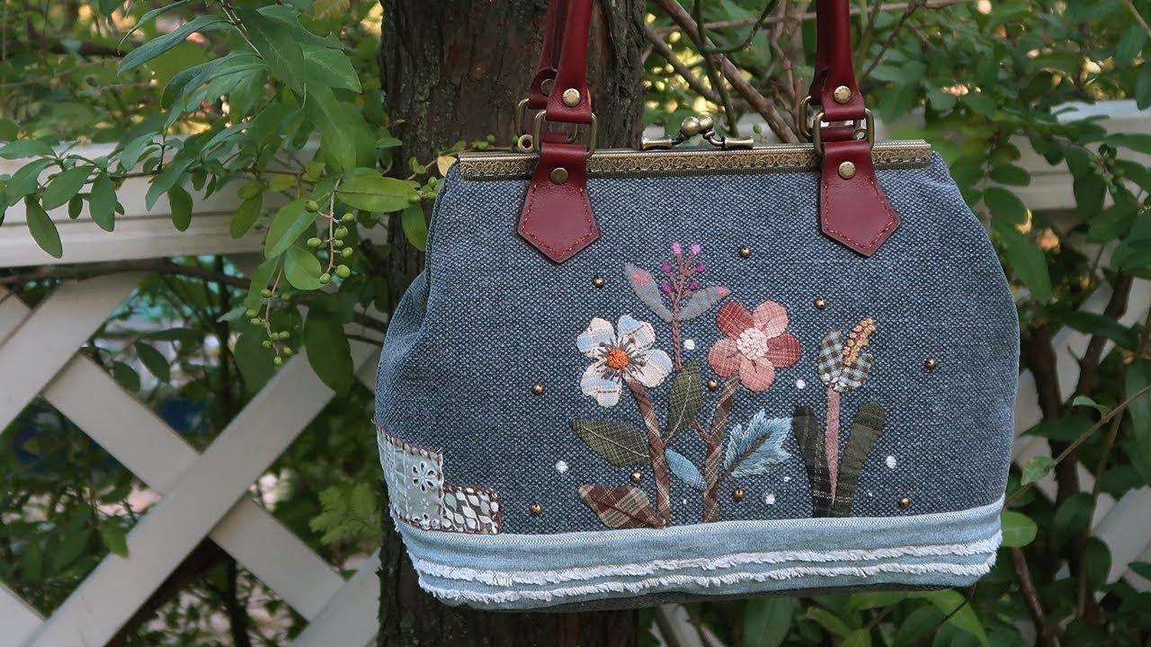 퀼트 가방 만들기 │ hand quilt applique embroidery bag │ how to