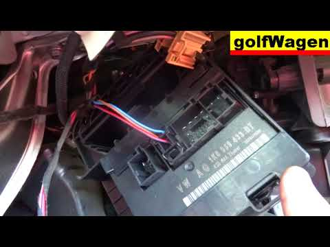 VW Golf 5 how to change comfort control module CCM 1K0 959 433