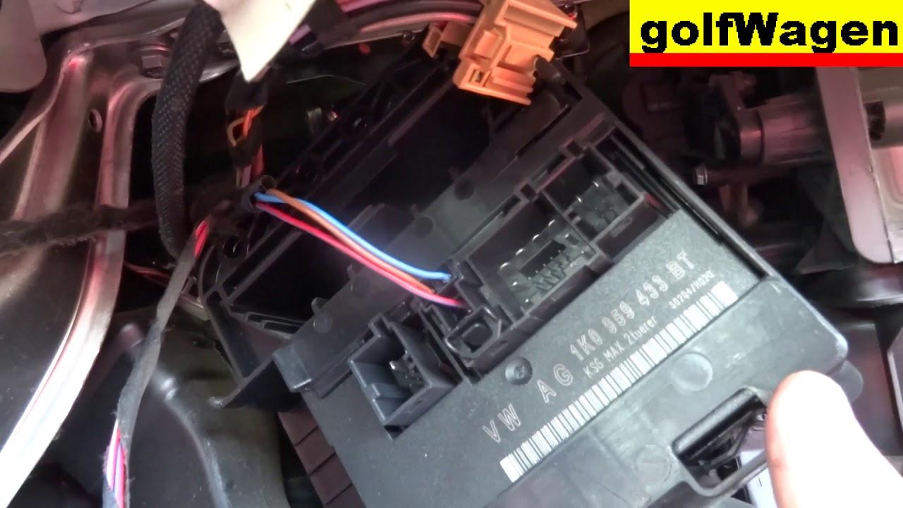 2013 Passat Tdi Fuse Diagram Vw Golf 5 How To Change Comfort Control Module Ccm 1k0 959
