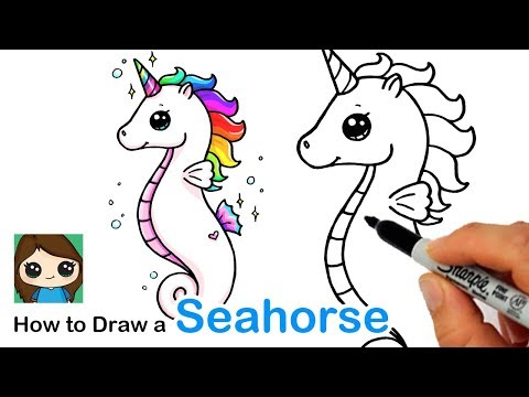 How To Draw A Unicorn Seahorse
