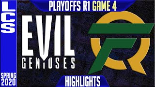 EG vs FLY Highlights Game 4 | LCS Spring 2020 Playoffs Round 1 | Evil Geniuses vs FlyQuest G4