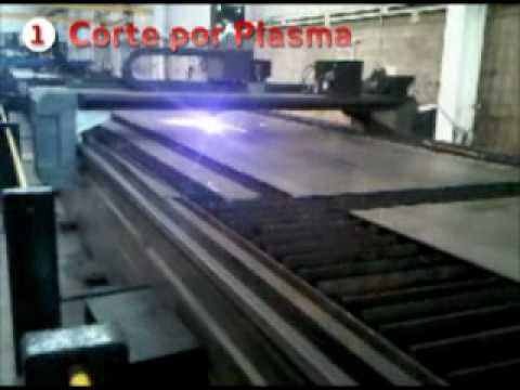 Estructura de acero de tres placas vigas y columnas de for Placa de acero