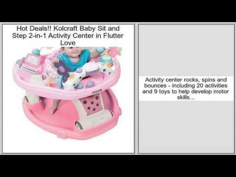 Kolcraft Baby Sit and Step 2-in-1 Activity Center in Flutter Love Review