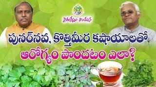 Punarnava, Coriander(Kothimeera) Leaves Kashayalu - Health Benefits    Khader Valli    Rythunestham