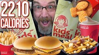 Wendy's Kids Meal X3 | MUKBANG 먹방 Eating Show