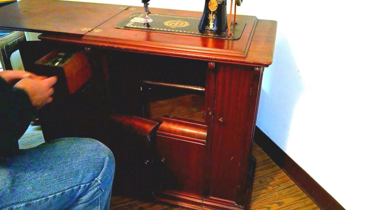 Rare Serviced Antique 1907 Singer 66 1 Lotus Treadle