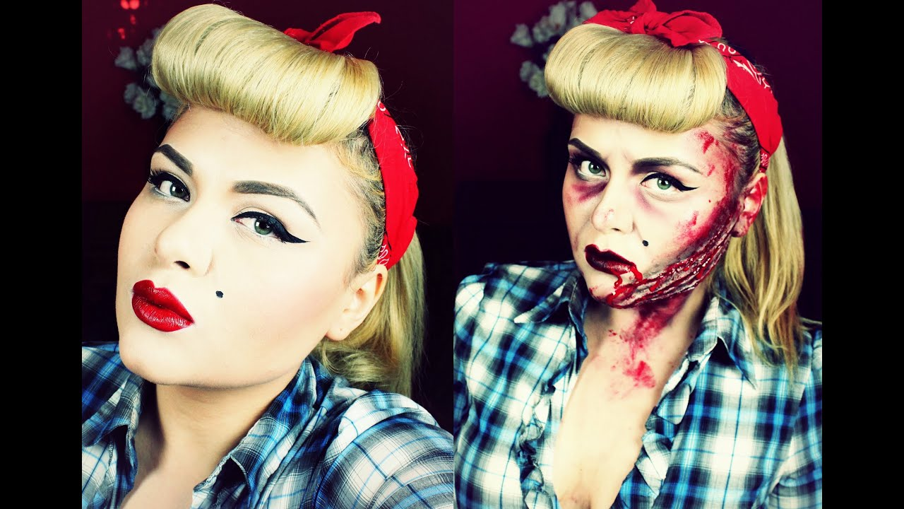 bloody pin-up / rockabilly for halloween - youtube