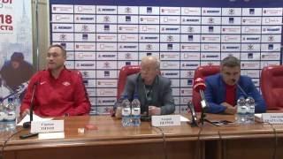 Послематчевая пресс-конференция ХК ЦСКА-ХК «Спартак» 18.08.2016