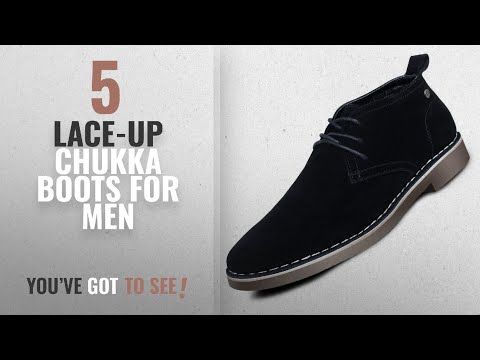 Top 10 Lace-Up Chukka Boots [ Winter 2018 ]: Men's Suede Dessert Boot Lace up Leather Oxfords Chukka