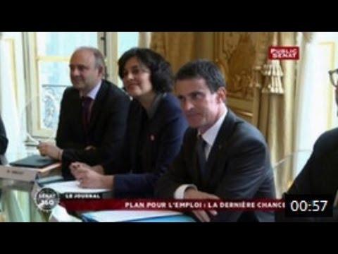 Manuel Valls reçoit les partenaires sociaux : reportage Public Sénat du 11/01/16