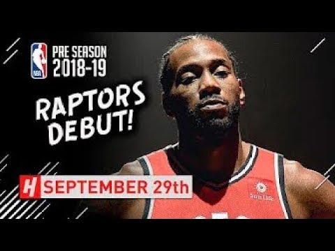 Kawhi Leonard Full Toronto Raptors DEBUT Highlights vs Trail Blazers!
