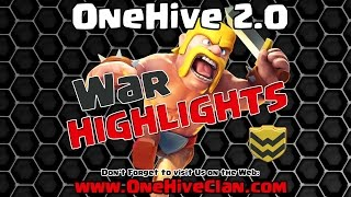 OneHive 2.0 VS The Peaceful WAR Recap   Clash of Clans