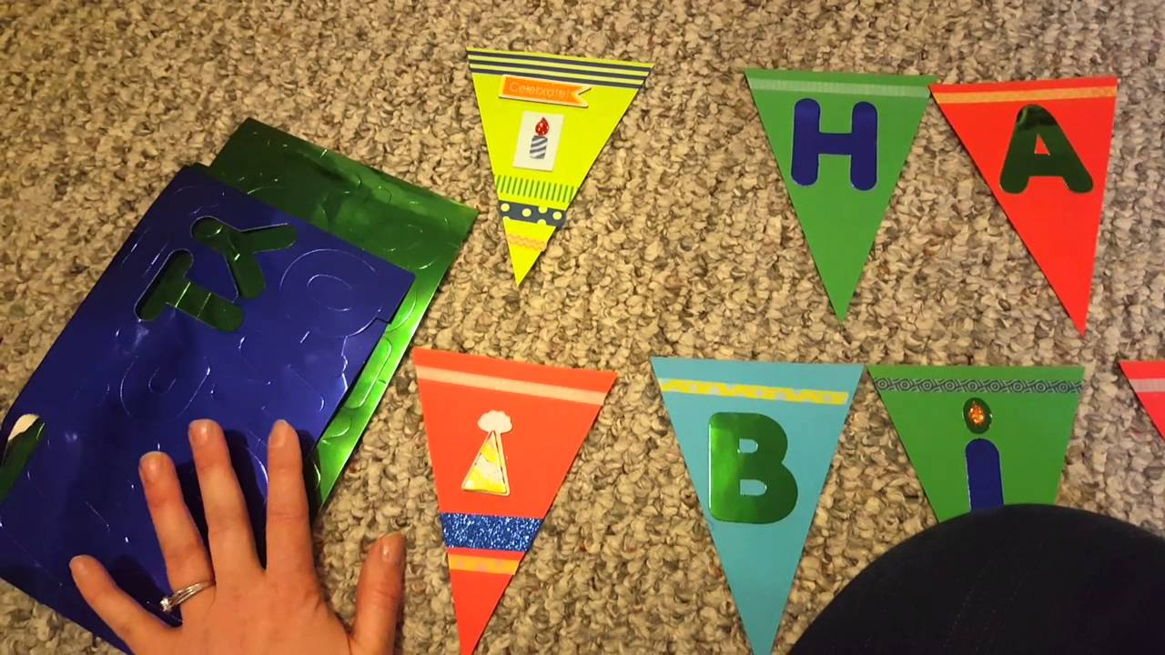 Easy Cheap D I Y Kid S Birthday Banner Youtube