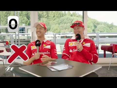 Ferrari's Sebastian Vettel and Kimi Raikkonen | F1 Grill the Grid 2017