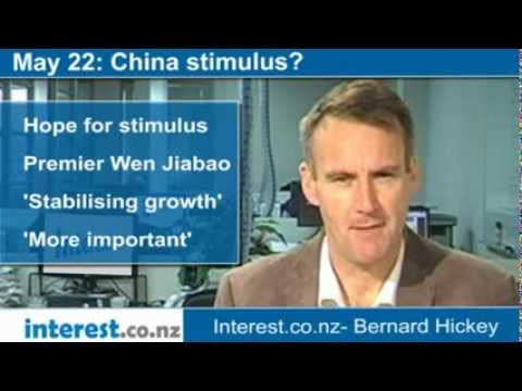90 seconds at 9 am:China stimulus? (news with Bernard Hickey)