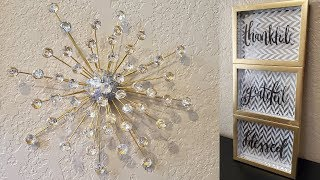 2 Quick And Easy Dollar Tree Diy's| Dollar Tree Diy Gold And Silver Wall Decor Ideas