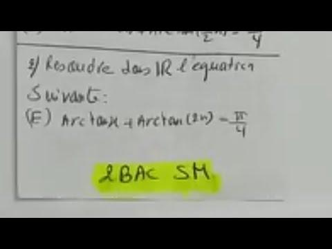 Exercice- 2- Arctan(x) SM