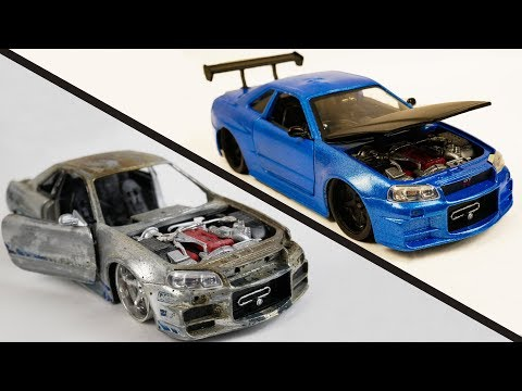 Repair Abandoned Toy Car #2 | Nissan Skyline GTR R34