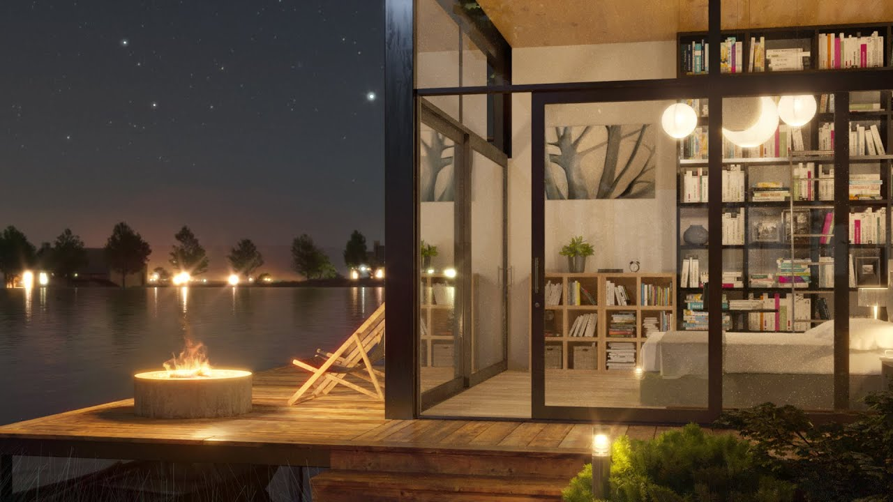 Light a bonfire and sleep in a cozy bedroom by lakefront
