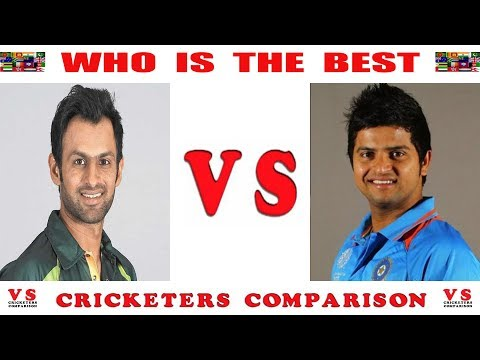 🔴 Shoaib Malik vs  Suresh Raina Comparison // runs,best,amazing,innings,batting,six,in,test,odi,t20