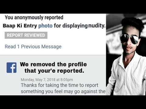 How to delete fake facebook account in just one report   Ek report me fake account udda de   2018