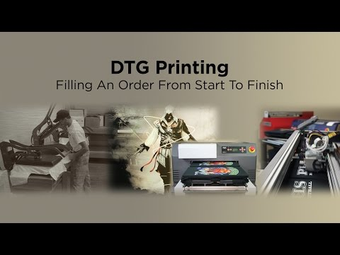 Direct to Garment Printing   Filling an Order from Start to
