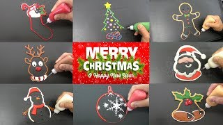 Christmas Pancake Art Creations! Learn How to DIY Pancake Art