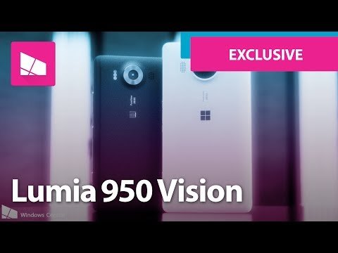 This is Microsoft's ORIGINAL Lumia 950 vision